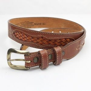 Silver Creek Collection Genuine Leather Belt 28